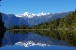 Nový Zéland - Lake Matheson